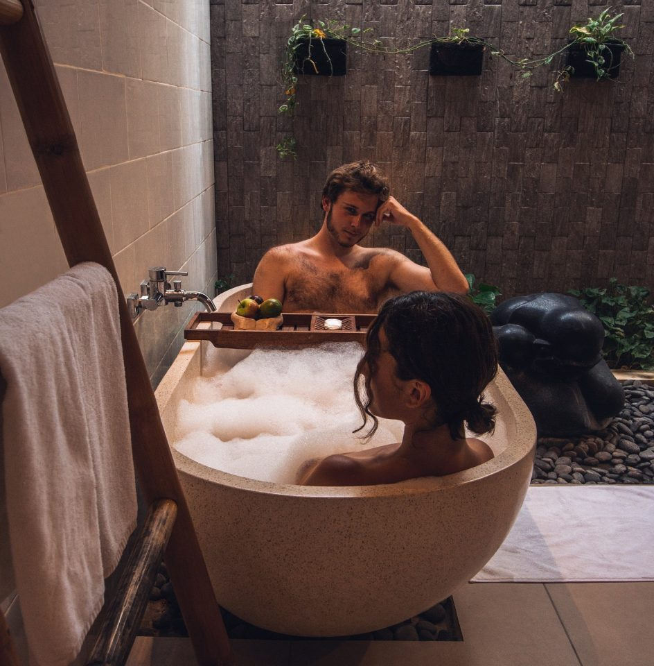 couple in bathtub