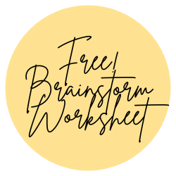 Brainstorming Worksheet - Be A Light Collective
